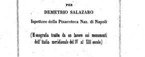 Notizie storiche sul Palazzo di Federico II a Castel del Monte – Demetrio Salazaro