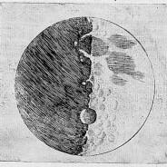 La Luna di Galileo e Ruggieri vista da Castel del Monte